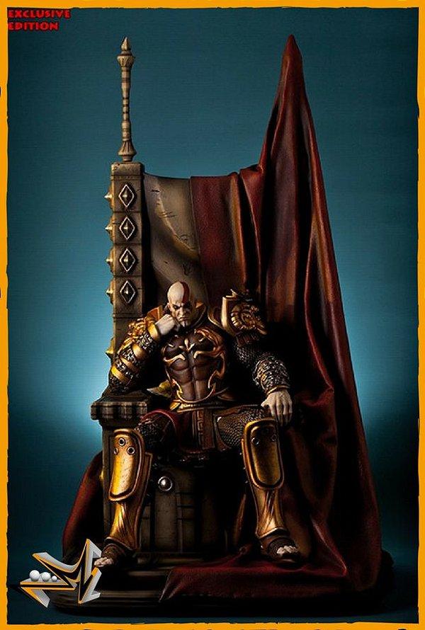 Kratos no Trono EX 1/4 God Of War - Gaming Heads