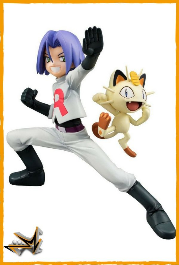 James e Meowth Equipe Rocket Pokémon - Megahouse
