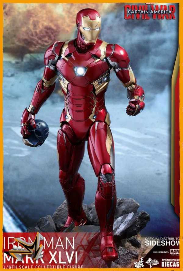 Iron Man Mark XLVI 1/6 Guerra Civil Diecast Figure Marvel - Hot Toys