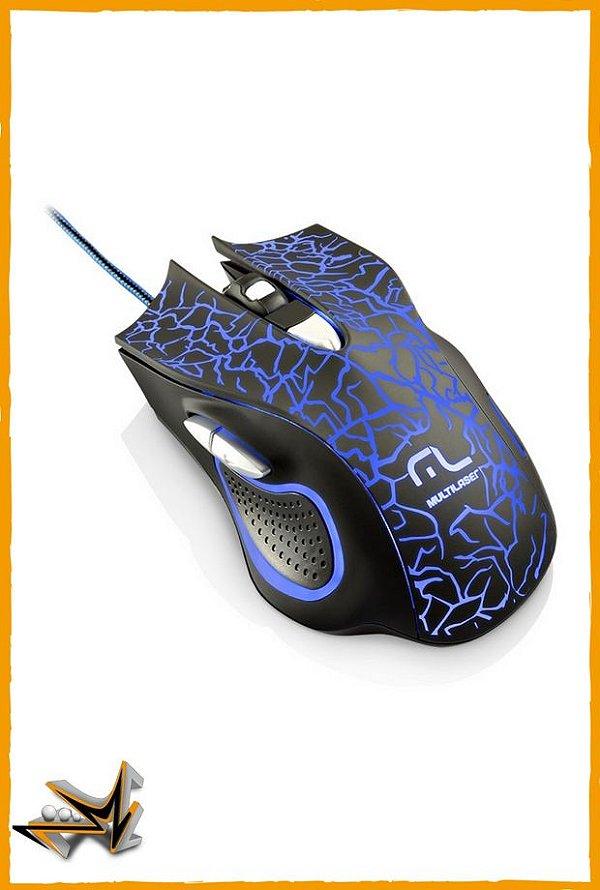 Mouse Gamer Multilaser Óptico USB 3D 6 Botões em LED - Multilaser