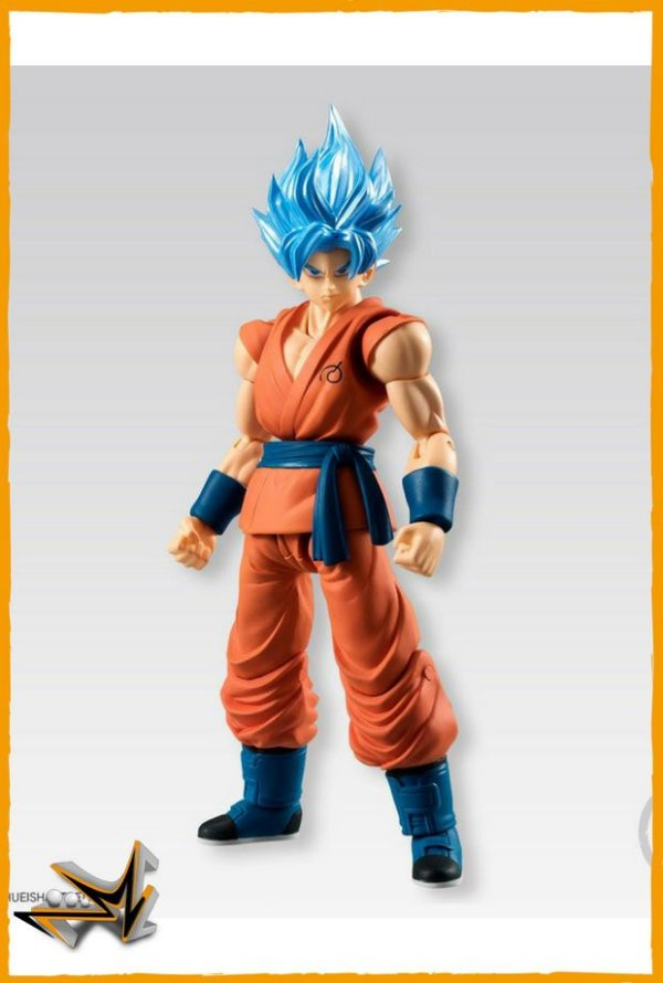Goku Blue Vegeta e Broly Set Dragon Ball - Bandai Shodo