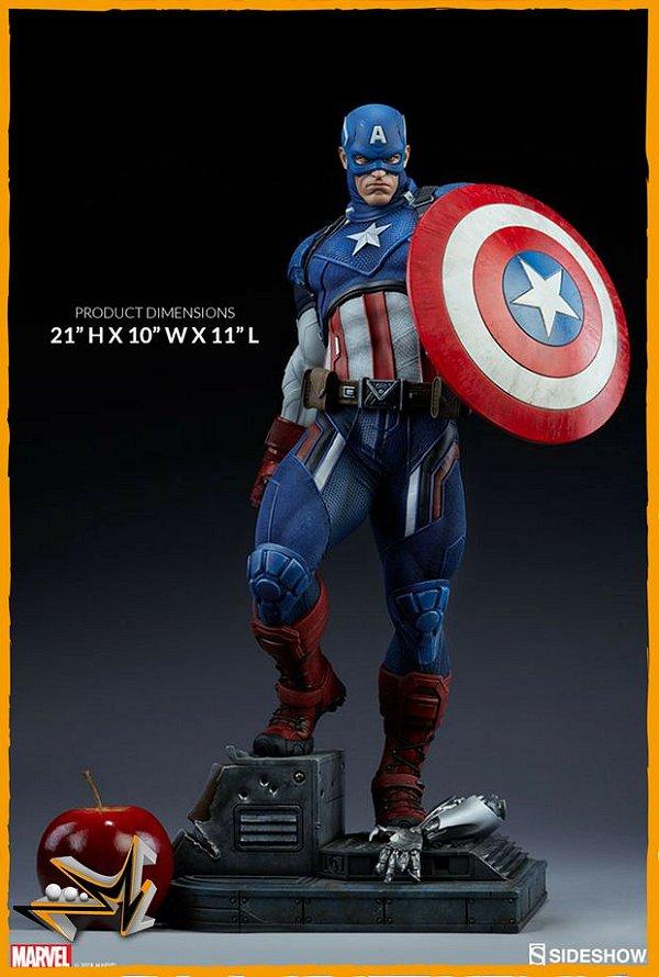Capitão América Premium Format 1/4 Marvel - Sideshow Collectibles (reserva de 10% do valor)