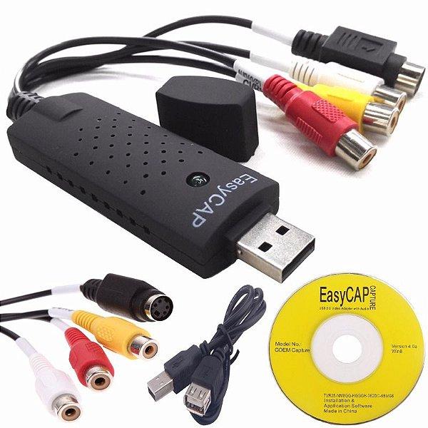 Captura de Áudio e Vídeo Externo via USB