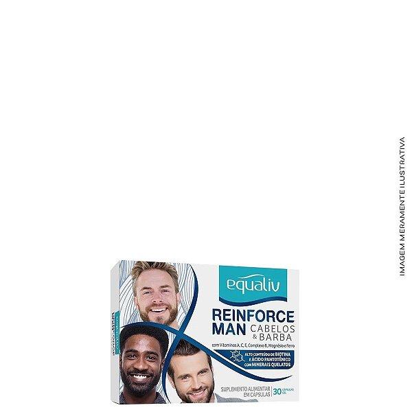 Reinforce Man Cabelos e Barba 30 Cáps - Equaliv