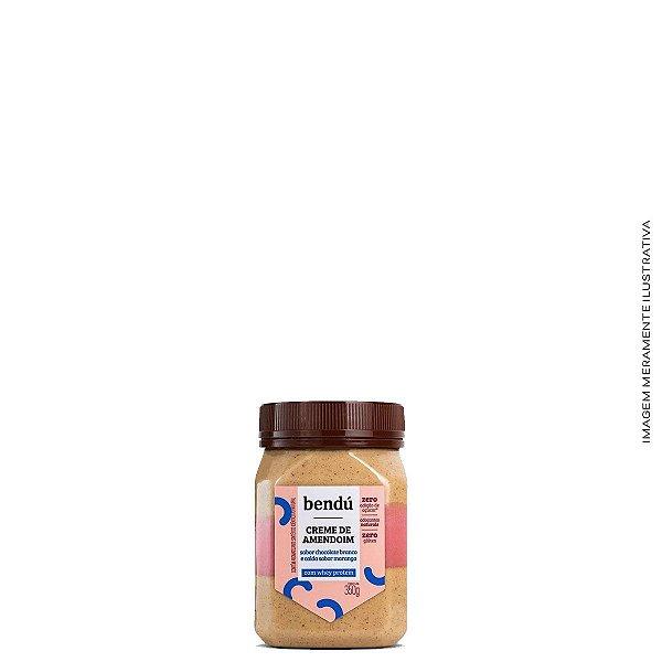 Creme de Amendoim Whey Chocolate Branco Com Morango 350g - Bendú