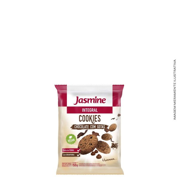 Cookies Integral Chocolate com Gotas 150g - Jasmine