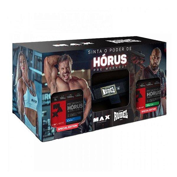 Promopack Hórus Strap Blue Ice e Limão 150g  - Max Titanium
