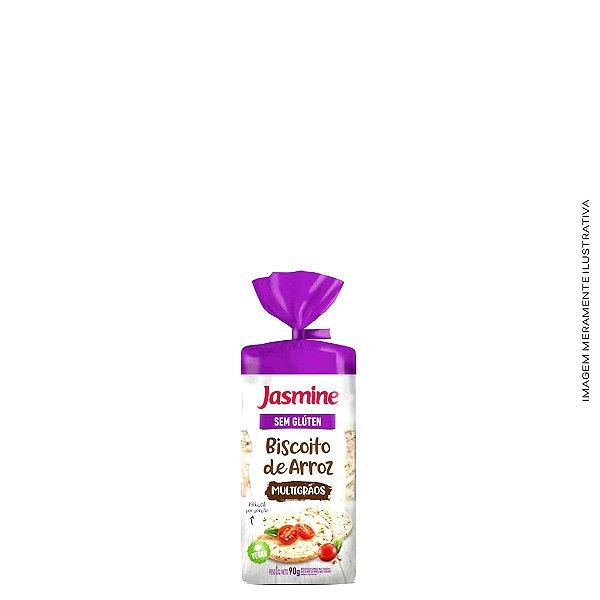 Biscoito de Arroz Sabor Multigrãos 90g - Jasmine