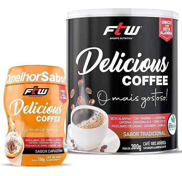 Delicious Coffee 300g Tradicional + Brinde Delicious Coffee Cappuccino 100g - FTW
