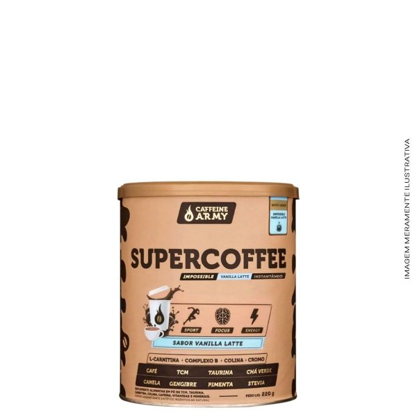 Supercoffee 220g Vanilla Latte - Caffeine Army
