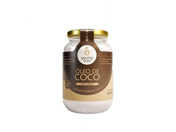 Óleo de Coco Extravirgem da Polpa 500ml - Santo Óleo