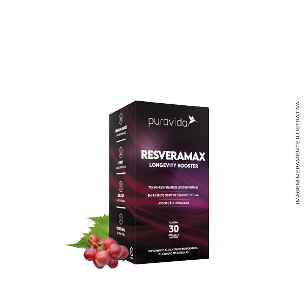 Resveramax Licopeno e Resveratrol 30 Cápsulas  - Puravida