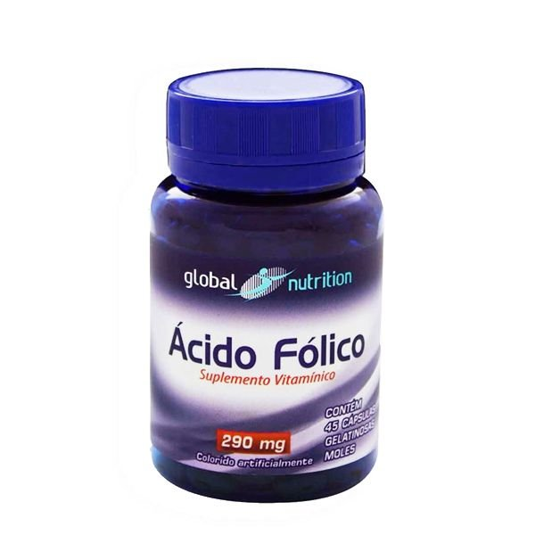 Ácido Fólico 240mcg 45 Cápsulas - Global Nutrition