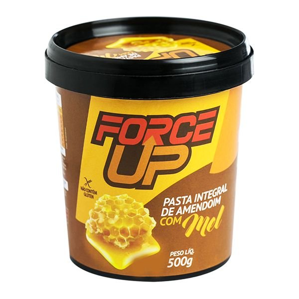 Pasta de Amendoim Integral Mel 500g - Force Up