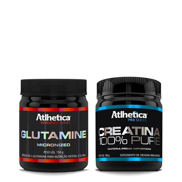 Creatina 100g + Glutamine micronized 150g - Atlhetica