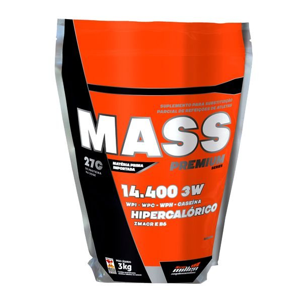 Hipercalórico Mass Premium 14.400 3W - 3Kg - New Millen