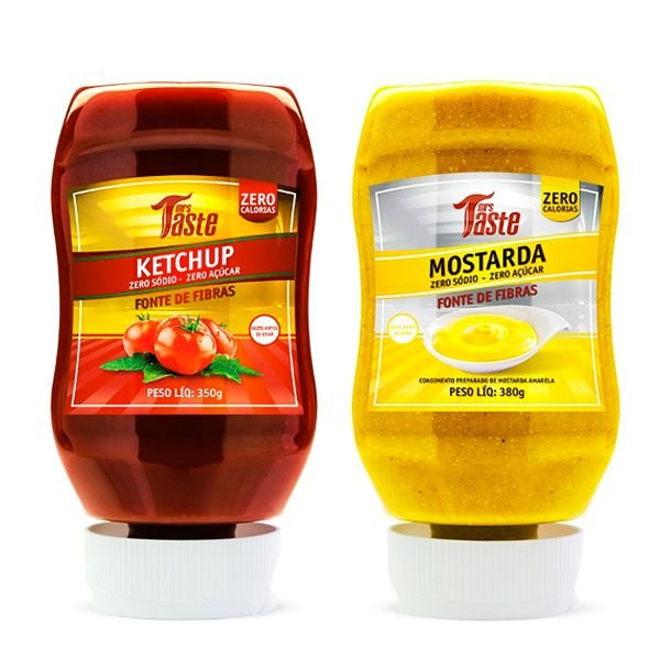 Kit Ketchup 350g + Mostarda 350g - Mrs Taste