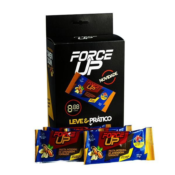 Cx com 20 Sachês -32g - Pasta de Amendoim Torrado - Force Up
