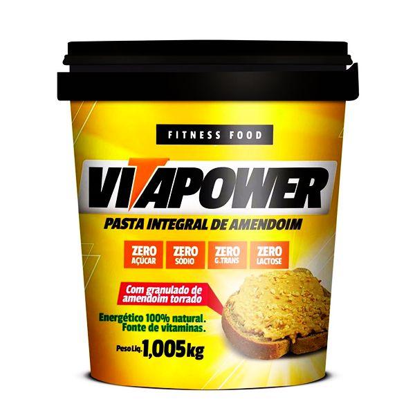 Pasta de Amendoim Integral Crocante - 1,005kg - Vita Power