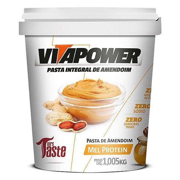 Pasta de Amendoim Integral Mel  - 1,005kg - Vita Power