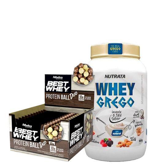 Whey Grego 900g + Best whey Protein Ball (Cx com 12un)