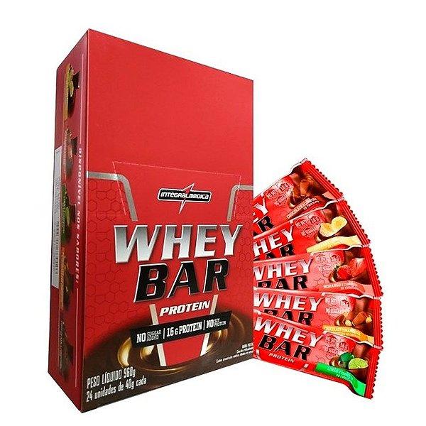 Whey Bar Protein (Caixa c/ 24un 40g) Integral Medica