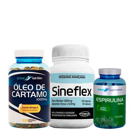 Óleo de Cártamo + Sineflex + Espirulina