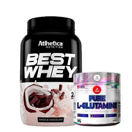 Best Whey 900g Atlhetica + L-Glutamine 280g Midway
