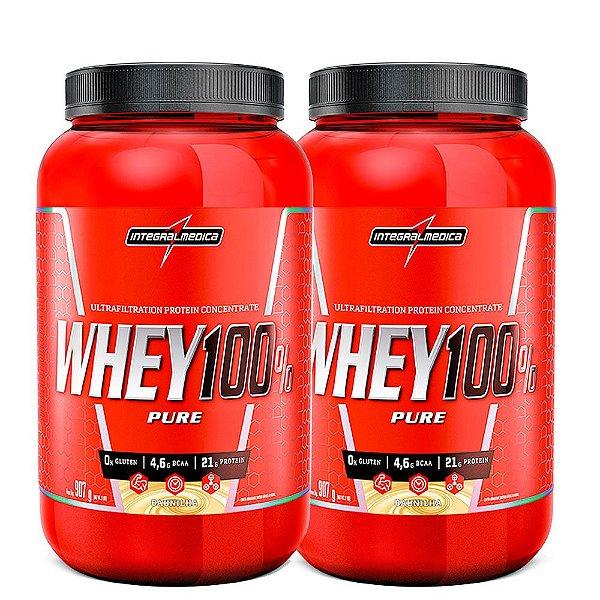 Kit 2x Whey Protein 100% Pure 907g Integralmedica