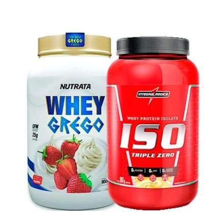 Combo Whey Grego 900g + Whey Iso 907g Integral