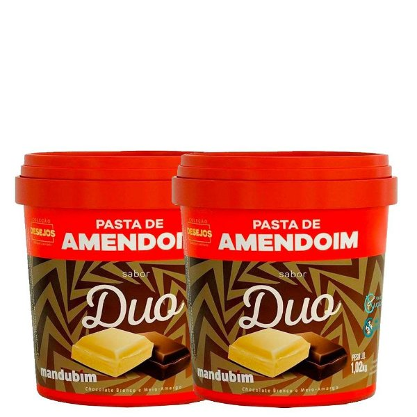 Kit 2un Pasta de Amendoim Duo 1kg Mandubim