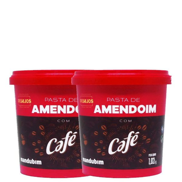 Kit 2un Pasta de Amendoim Café 1kg Mandubim
