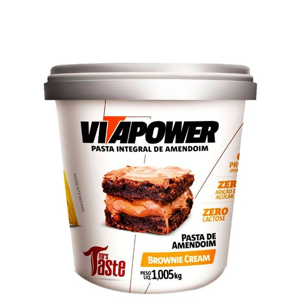 Pasta de Amendoim Brownie Cream 1,005kg VitaPower