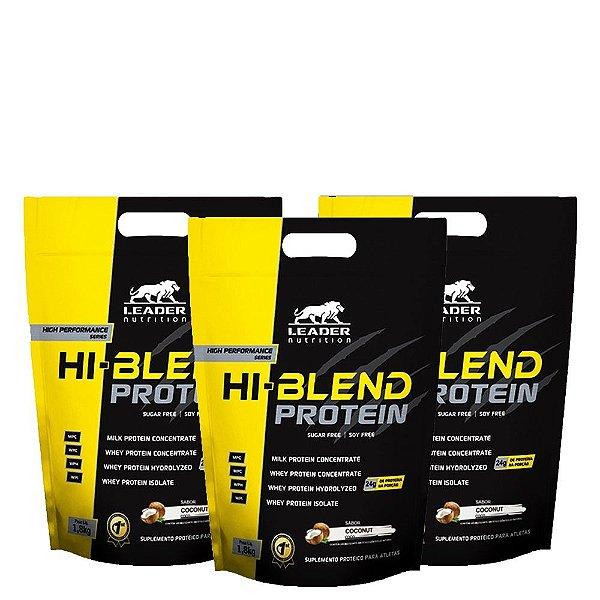 Kit 3 Unid Hi-Blend 1,8kg Leader Nutrition.
