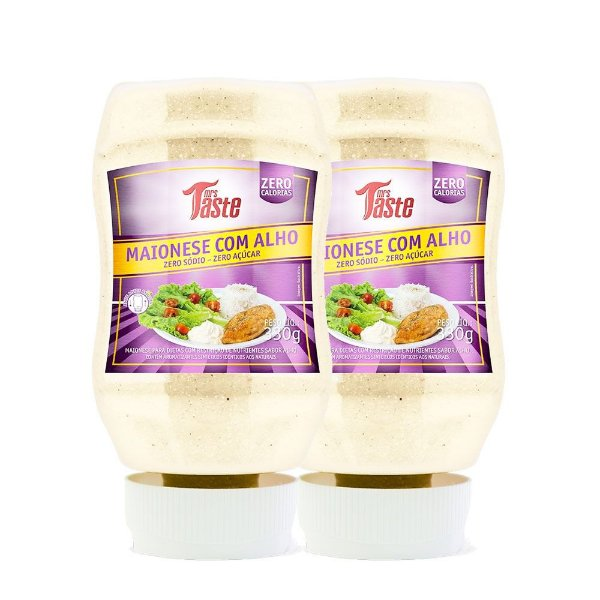 Kit 2 Molho Maionese com Alho 350g Mrs taste