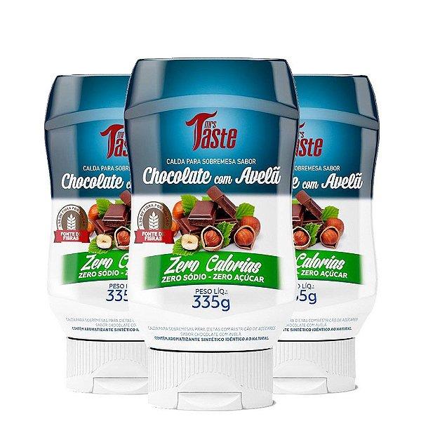 Kit 3 Calda para Sobremesa Chocolate com Avelã 335g Mrs Taste