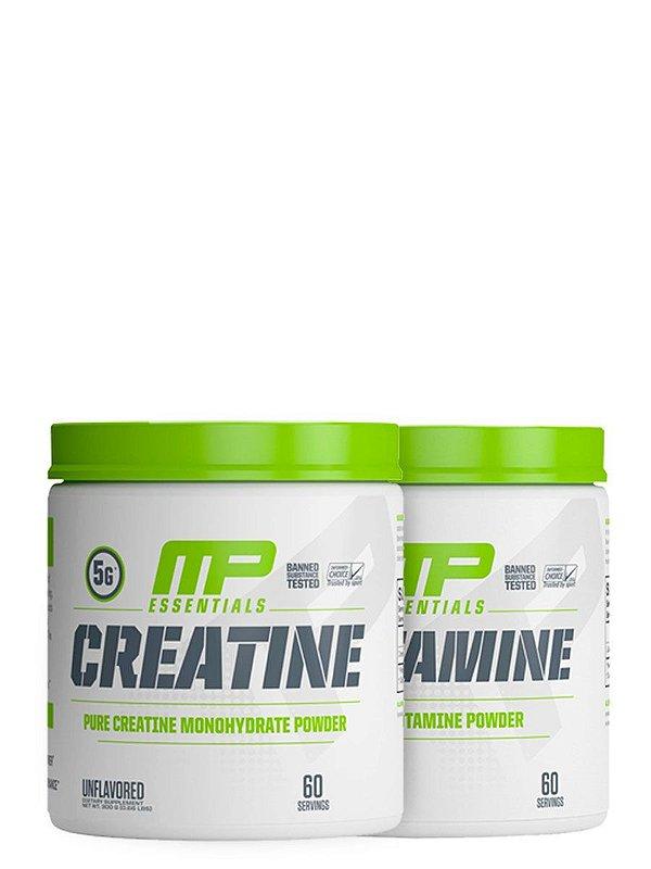 Kit Creatina 300g + Glutamina 300g Muscle Pharm
