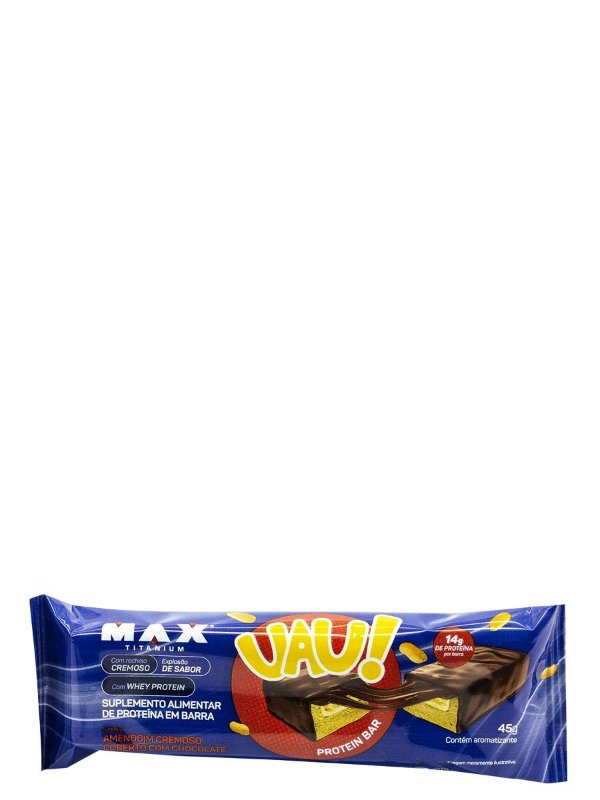 Uau! Protein Bar 45g Barrinha de Proteina Max Titanium