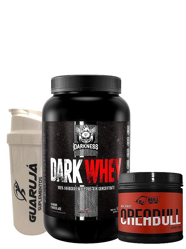 Dark Whey 1,2Kg + Creabull 200g + Coqueteleira de Brinde