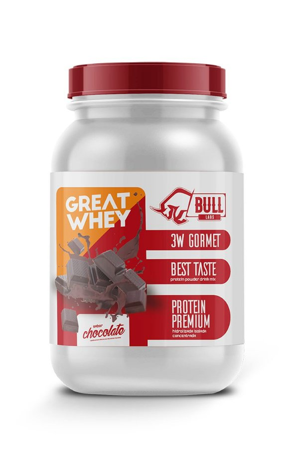 Whey Protein 3w Great 900g Bull Labs