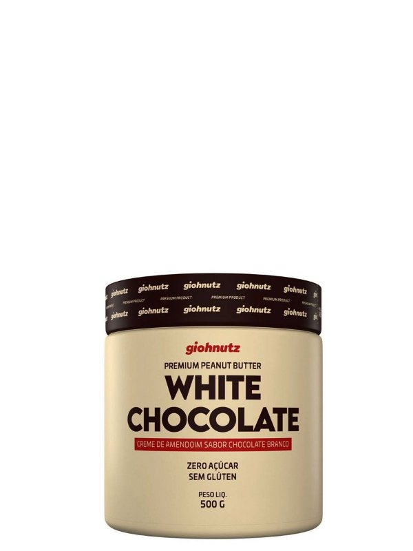 Creme de Amendoim White Chocolate - 500gr Giohnutz