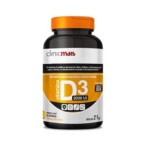Vitamina D3 30caps - Clinicmais