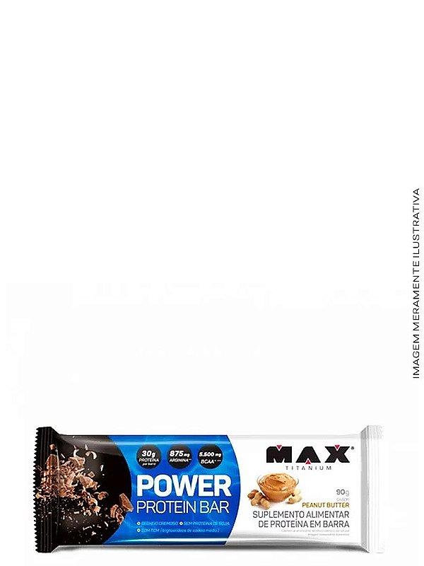 Barra de Proteína Power Protein Bar 90g (Barra avulsa) - Max Titanium