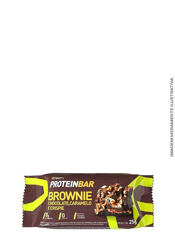 Mini Barrinhas de Proteínas 100g - Protein Bar Brownie Chocolate,Caramelo  e Crisp - Trinity