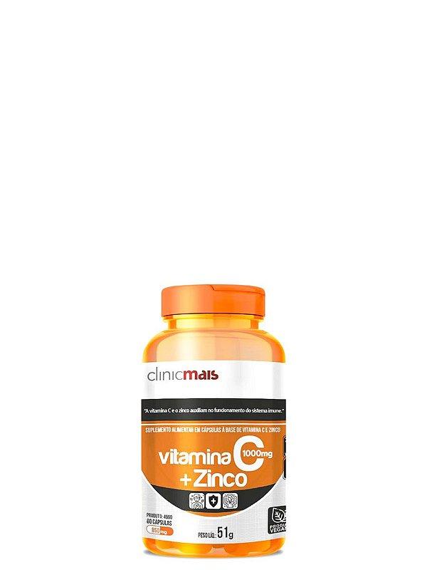 Vitamina C + Zinco 60 caps - Clinicmais