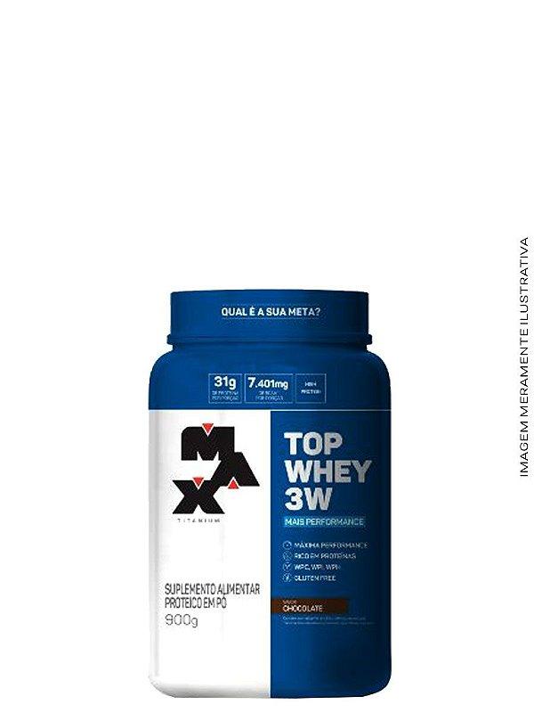Top Whey 3W Mais Performance 900g - Max Titanium