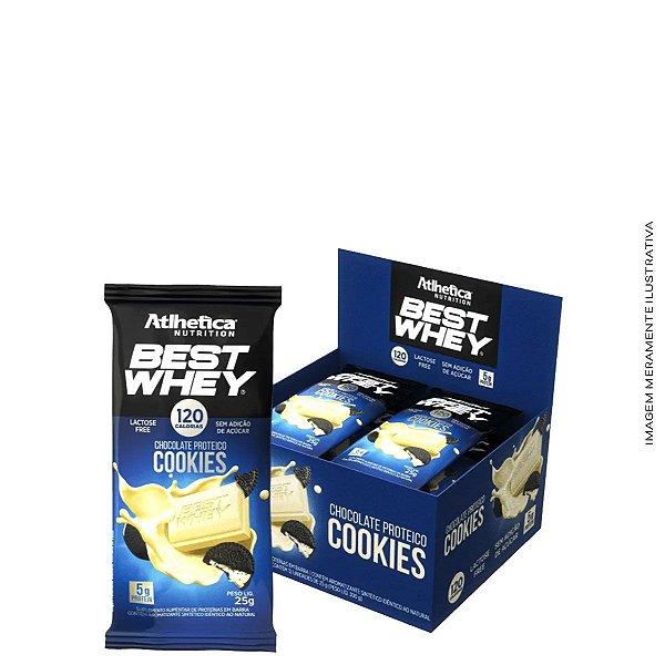 Barra de Proteína Best Whey Chocolate Proteico 25g  (Caixa C/12uni) - Atlhetica Nutrition