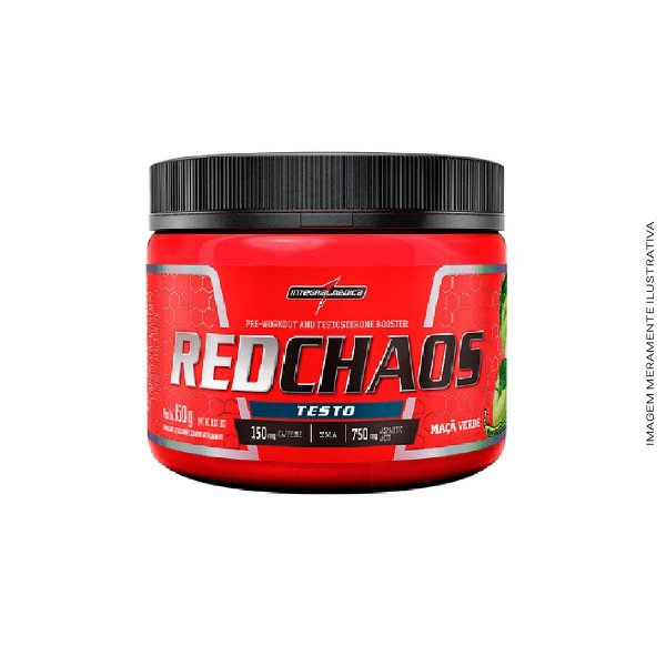 Pré-Treino Red Chaos Testo - 150g Integralmedica