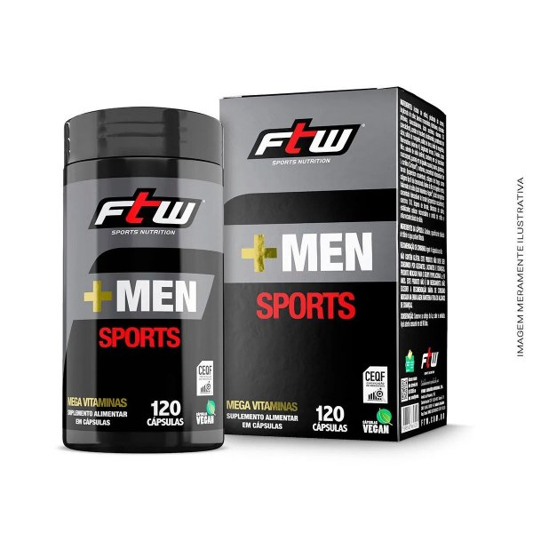 Multivitamínico +Men Sports 120 caps - FTW