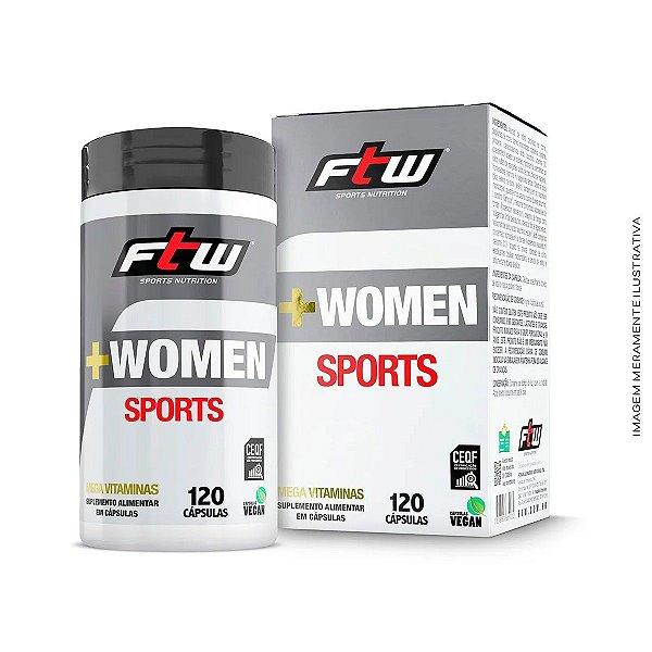 Multivitamínico +Women Sports 120 Cáps - Ftw